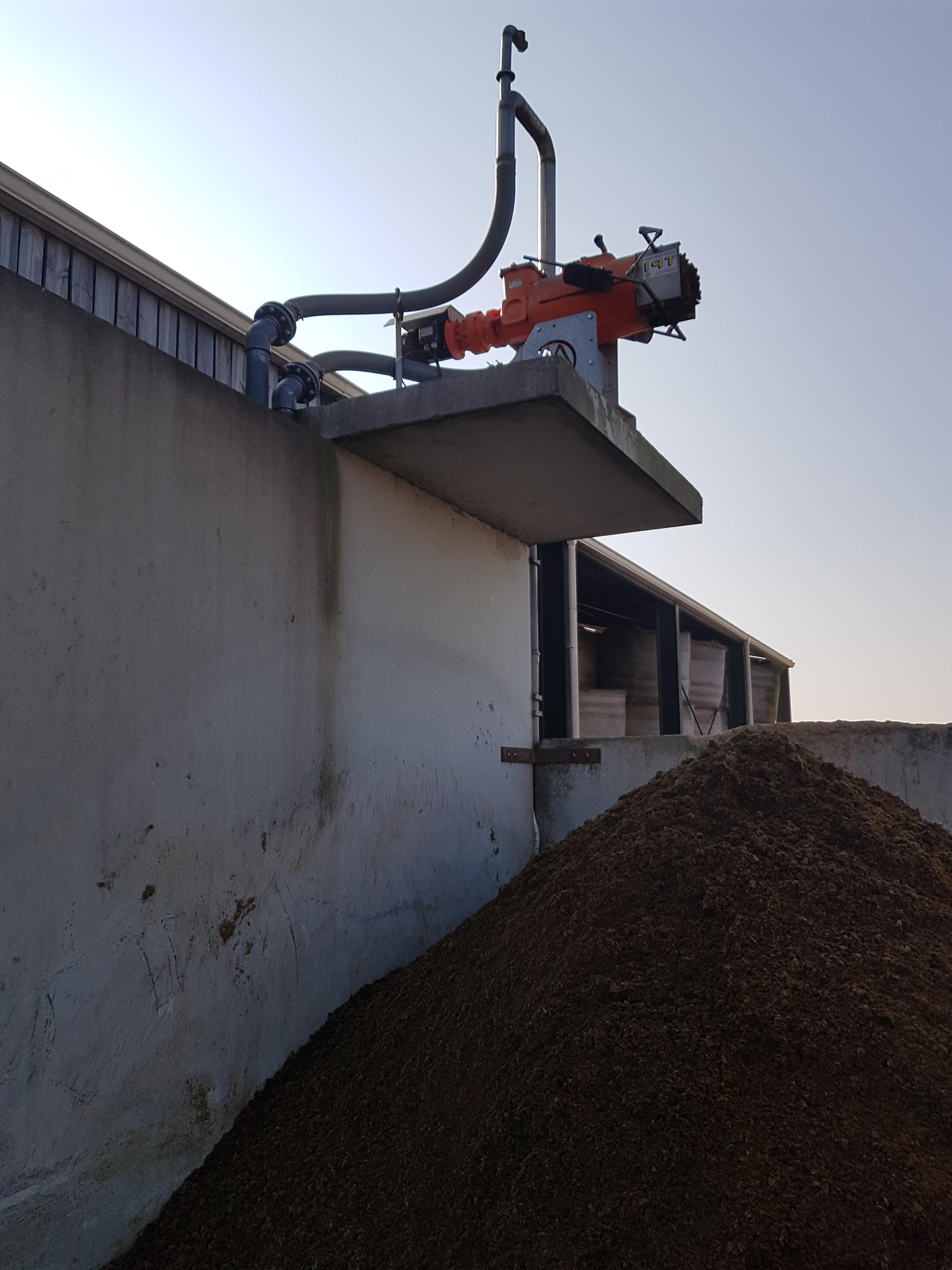 bovins dans ferme séparateur de phase du lisier